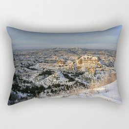 The Bad Lands of North Dakota Rectangular Pillow