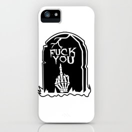 Mean Grave iPhone Case