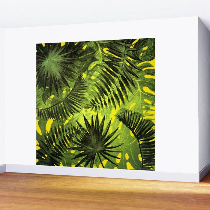 Tropical Leaves Aloha Jungle Garden Wall Mural