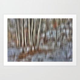 Poplar Cluster in the Wind Art Print