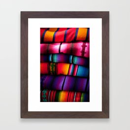 Guatemalan Blankets in Antigua Framed Art Print