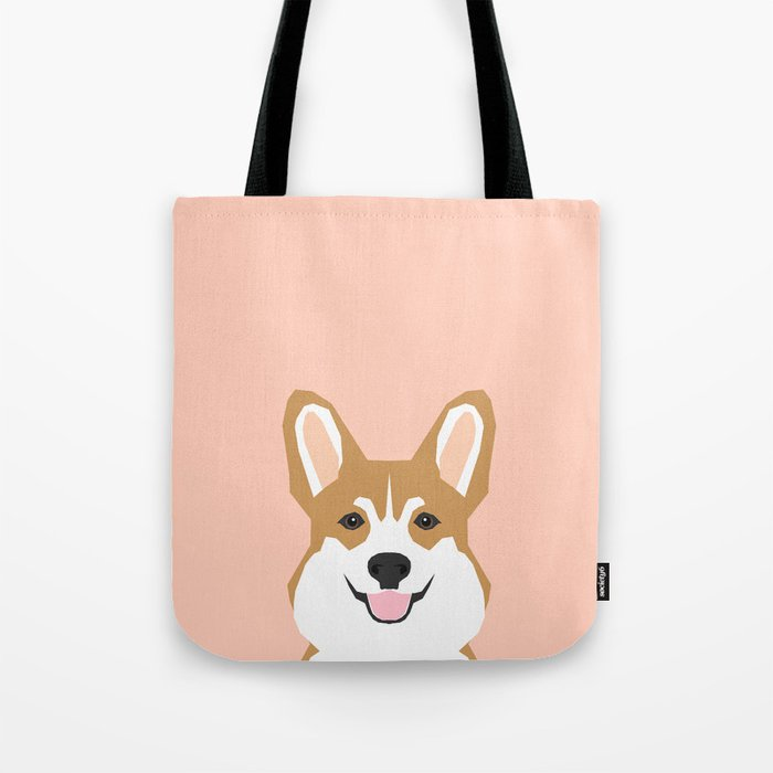 Shelby - Welsh Corgi gifts with corgi illustration for dog people and corgi owner gifts dog gifts Tote Bag