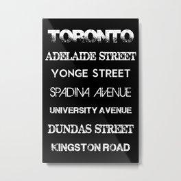 Toronto Streets Centre Metal Print