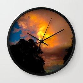 Florida Sunrise Orange Sky Wall Clock