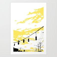 Skylines Art Print