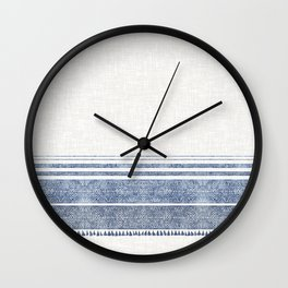 FRENCH LINEN CHAMBRAY TASSEL Wall Clock