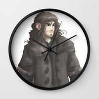kili Wall Clocks featuring Kili  by AlyTheKitten