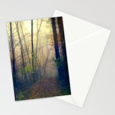 Wandering in a Foggy Woodland Stationery Cards