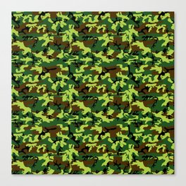 camouflage militaire Canvas Print