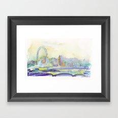 London Watercolor scenery Framed Art Print