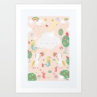 Sweet Dreams Print, portrait. Art Print