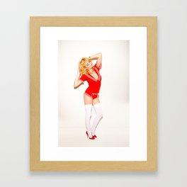 Girl in red Framed Art Print