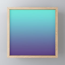 Ultra Violet Teal Ombre Gradient Pattern | Trendy color of the Year 2018 Framed Mini Art Print