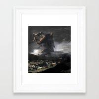 kaiju Framed Art Prints featuring El Kaiju by SkullsNThings