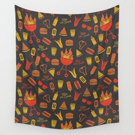 Kiss the Cook - Dark Palette Wall Tapestry
