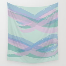 Double Mint Swooshes Wall Tapestry