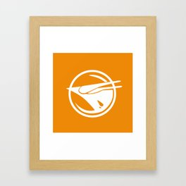 Rebel Phoenix orange Framed Art Print