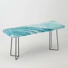 Abstract Marble - Teal Turquoise Bench