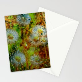 Concept abstract : Dandelion / Pusteblume Stationery Cards