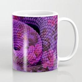 Floral Snake Purple Coffee Mug