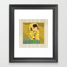 The Kiss (Lovers) by Gustav Klimt  Framed Art Print