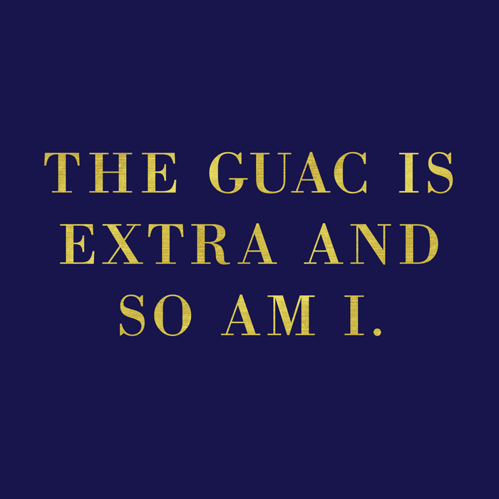 The Guac Is Extra-Navy | Guacamole | Sassy | Digital Typography Comforters