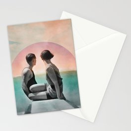 Collage Couple in Sunset Stationery Cards