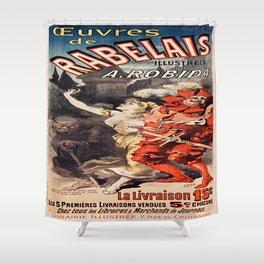 Vintage poster - Oeuvres de Rabelais Shower Curtain