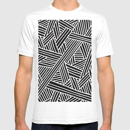 Abstract black & white Lines and Triangles Pattern - Mix and Match with Simplicity of Life T-shirt