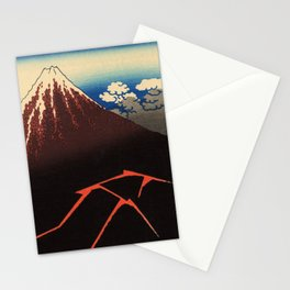 Rainstorm Beneath the Summit (Sanka hakū or 山下白雨) Stationery Cards