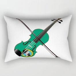 Washington State Fiddle Rectangular Pillow