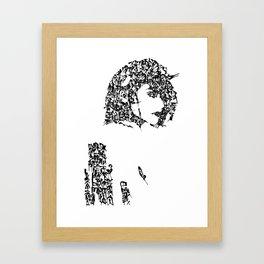 Kanji Calligraphy Art :woman's face #24 Framed Art Print