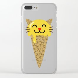 Ice Creameow Clear iPhone Case