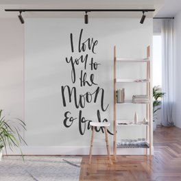 I love you to the moon & back Wall Mural