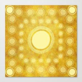 """Gold & Yellow Ethnic Sun Mandala"" Canvas Print"