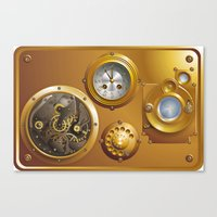 steampunk Canvas Prints featuring Steampunk by pASob