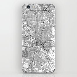 Dallas White Map iPhone Skin
