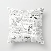 my mad fat diary Throw Pillows featuring Dear Diary... by girlinplaits