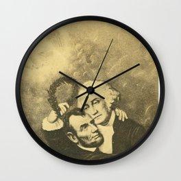 Washington & Lincoln Embrace Wall Clock