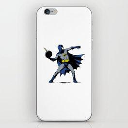 Bat Throwing Bomb iPhone Skin