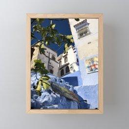 Figs & Steps, Chefchaouen, Morocco Framed Mini Art Print