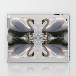 one swan a swimming Laptop & iPad Skin