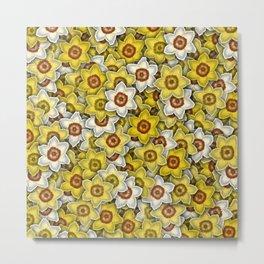 Daffodils pattern Metal Print