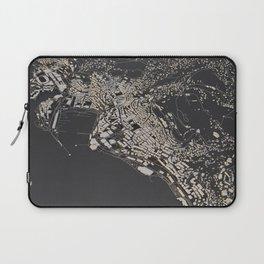 Monaco city map Laptop Sleeve