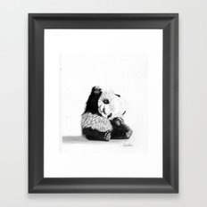 The Friendly Panda  Framed Art Print
