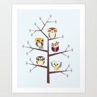 Owl Pine For You Art Print