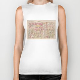 Vintage Map of Indianapolis Indiana (1916) Biker Tank