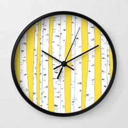 Aspen Forest - Yellow Wall Clock