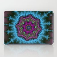 shield iPad Cases featuring Fractal Shield by Harvey Warwick