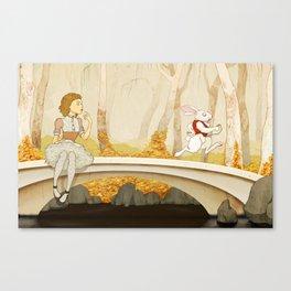 Follow the Rabbit Canvas Print